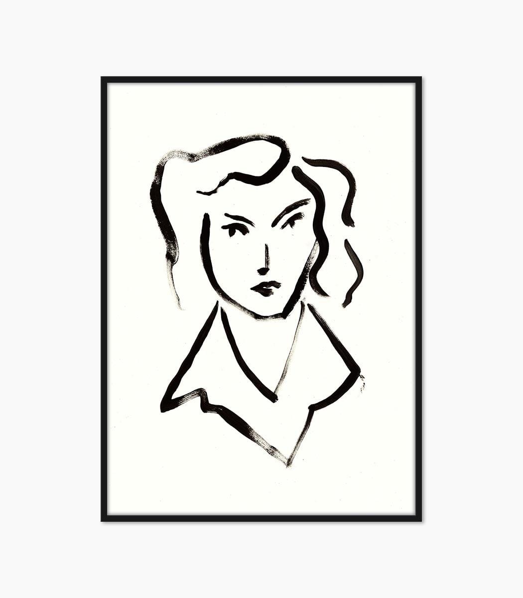 print pictura portret creata manual si printata la calitate superioara numai pe www.artwall.ro