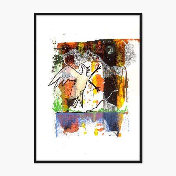 print pictura pasare creat mnual si printat la calitate superioara numai pe www.artwall.ro